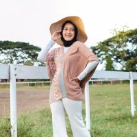 baju pantai bali boho etnik asimetris blouse hijab