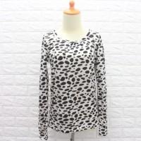 50 Baju atasan wanita lengan panjang motif macan / Kaos rajut wanita