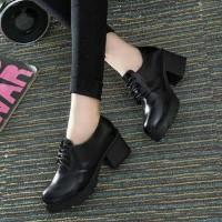 Termurah ! Sepatu Boots Docmart Fashion Hitam - Boots Wanita Korea