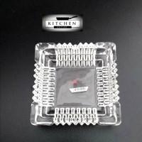 Asbak Kaca Asbak Rokok Kotak Tebal 12x12cm