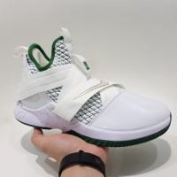 sepatu basket nike lebron james 12 soldier white green