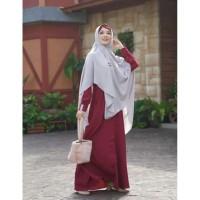 Gamis Meisya Maroon (Aulia Fashion)