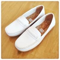 sepatu pantopel wanita putih pantofel perempuan dinas formal