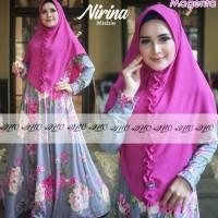 baju gamis wanita terbaru 2019 motif bunga terbaru murah set khimar