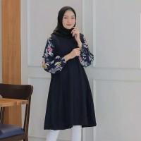 baju atasan wanita terbaru / tunik remaja motif bunga