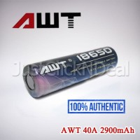 Baterai 18650 AWT 40A 2900mAh Authentic Not KDEST MXJO Sony