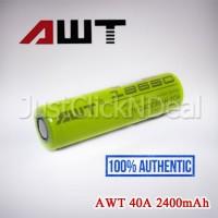 Baterai 18650 AWT 40A 2400mAh Authentic Batere Battery