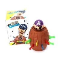 Pirate barrel running game pirate roulette family game