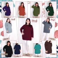 STAYL - Kaos Basic Batwing Jumbo Baju Ibu Hamil Big Size Adem XXL XXXL