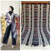 setelan ethnic celana kulot blouse kimono tenun jepara blanket AT010