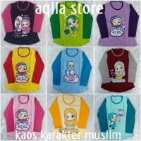 baju muslim anak perempuan/kaos anak tangan panjang muslim 6-9 tahun