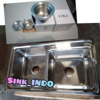 LARIS Bak Cuci Piring 2 Lubang Westafel cuci Sink atau Kitchen Sink