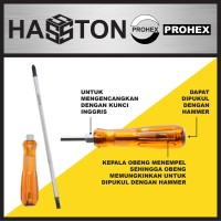 "HASSTON PROHEX Obeng 2 In 1 6"" x 6 (2600-008)"