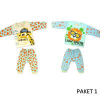 Baju tidur bayi, setelan anak umur 6 bulan 1 set isi 2 pcs Size M