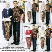 Couple Batik couple brokat penguin- Sarimbit Baju Batik Gamis