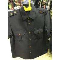 baju seragam safari Hitam panjang pdl - 1 stel