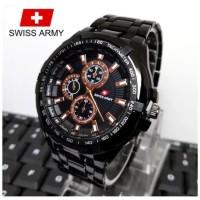 Swiss Army''- Jam Tangan Fashion Pria'' - Tali Rantai Stainless Steel