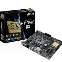 motherboard asus h110m e d3 lga 1151 ddr3 ddr3l