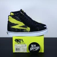 Sepatu Vans SK8 Hi High Pro X Motif BAD BRAINS Black Yellow Waffle ICC