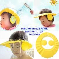 Topi Keramas Anak Bayi Dgn Penutup Telinga Shower Cap Hat Mandi