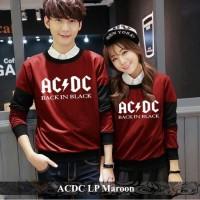 Lengan panjang couple terbaru Pusat fashion baju kapel termurah Strip
