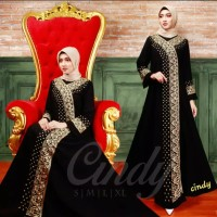 abaya hitam gamis arab bahan jettblack like new bordil computer 2019 - S