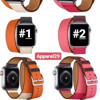 Apple iWatch Strap Extra Long Dual Tour Watch Leather Like Hermes