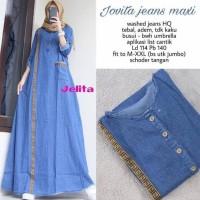 Jual Baju Gamis Muslim Terbaru Jovita Maxy Bahan Jeans