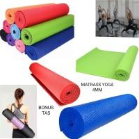 matrass yoga yoga mat karpet spons 4 mm bonus tas