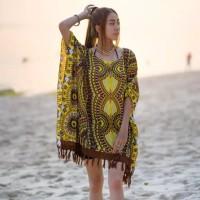 baju pantai bali dress pantai gauzy ponco maxi blouse bohemian etnik