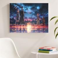 Sword Art Online, ver.2 Poster Kayu (30x22)