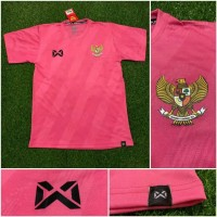 Jersey baju bola timnas Indonesia training pink 2020 grade ori