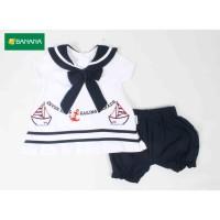 BANANA Setelan Baju Sailor Bayi Perempuan
