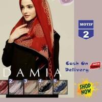 Flash SALE Jilbab Segi Empat Lilac Cotton French Motif 2 New By Damia