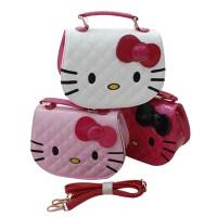 Fashion Wanita: Tas Selempang/Handbag Bentuk Hello Kitty Bahan Kulit