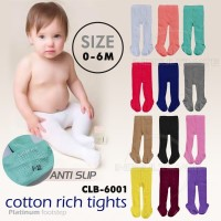 Celana Legging Bayi Polos Kaki Tutup anti slip 0-6bln CLB-6001