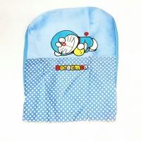 carseat/sarung jok mobil/doraemon/satu set/warna biru/barang import