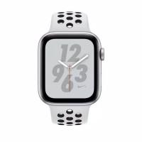 apple watch nike series 4 + 44mm sliver