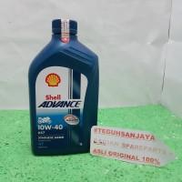 Oli Shell Advance AX7 4T SAE 10W-40 API SM JASO MA2 1000 mL / 1 Liter