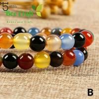 bahan Batu agate mix colour 8 mm - 8MM