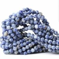 bahan Batu agate blue spot jade 8mm