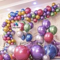 Balon Latex Metalik Chrome / Balloon Chrome 12inch Perpack isi 50 pcs