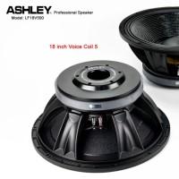 SPEAKER ASHLEY 18 INCH LF18V500 VOICE COIL 5 INCH 1300-2600 WATT