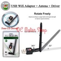 USB WIFI WIRELESS ADAPTOR + Antena MT7601 Speed 150 Up To 600 Mbps