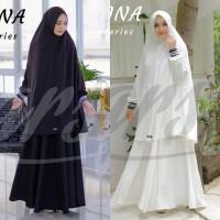 Gamis Syari Umroh Malika by Arsy Ori. Dress set khimar. Baju Muslim