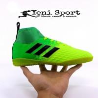 Terlaris Sepatu Futsal Anak Adidas Techfit X Abu Hijau Stabilo -