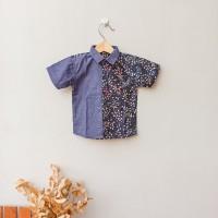 Kemeja Anak Batik Baju Batik Anak Laki Laki - Black Peperomia