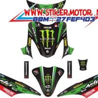 Modif Striping Motor Mio Sporty Monster Energy Tech 3 Hijau