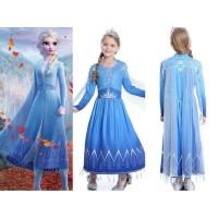 Baju Princess Elsa Dress Kostum Frozen 2 (khusus size 2-3th)