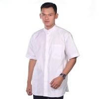 Baju Muslim Atlas Universal Motif Putih Polos - S
